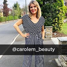 @carolem_beauty wearing occasion Sleeveless Striped Wide Leg Jumpsuit from klass collection spring s
